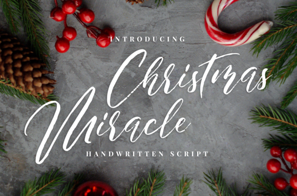 Print on Demand: Christmas Miracle  Script & Handwritten Font By it_was_a_good_day