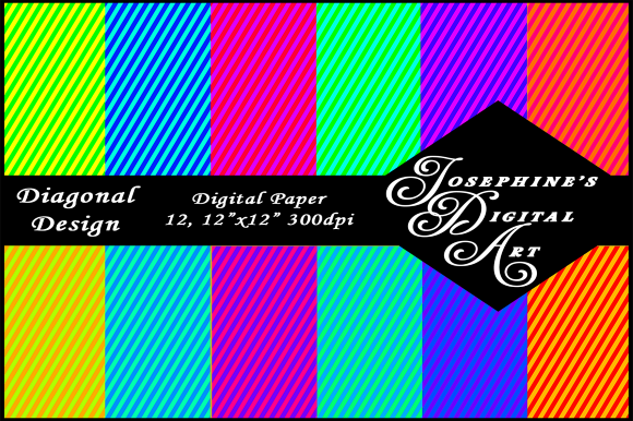 Download Free Colorful Diagonal Digital Papers Graphic By Joe S Digital Art for Cricut Explore, Silhouette and other cutting machines.