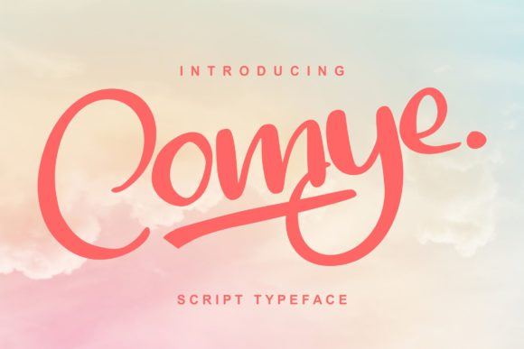 Print on Demand: Comye Script & Handwritten Font By Vunira