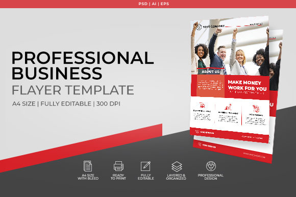 Download Free Corporate Business Flyer Template Graphic By Anuno Labs for Cricut Explore, Silhouette and other cutting machines.