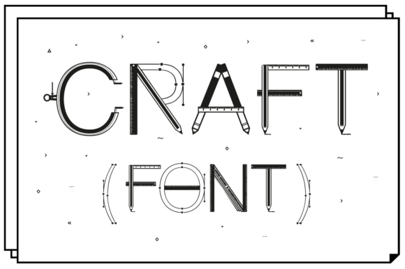 Print on Demand: Craft Display Font By yai.salinas