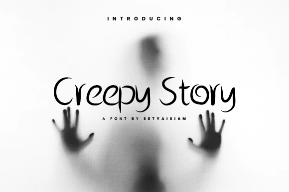 Download Free Creepy Story Font By Setyaisiam Creative Fabrica for Cricut Explore, Silhouette and other cutting machines.