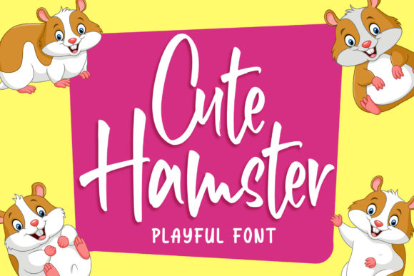 Print on Demand: Cute Hamster Exhibición Fuente Por Blankids Studio