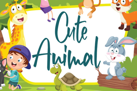 Print on Demand: Cute Hamster Display Font By Blankids Studio - Image 4