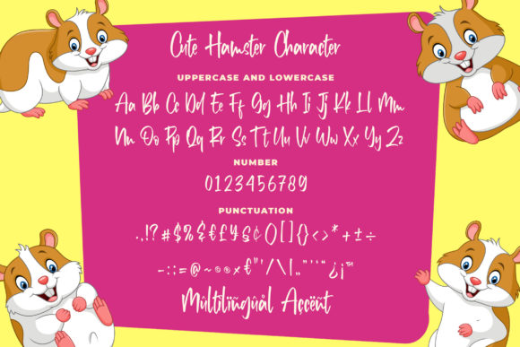 Print on Demand: Cute Hamster Display Font By Blankids Studio - Image 5