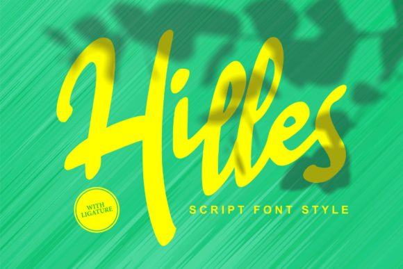 Print on Demand: Hilles Script & Handwritten Font By Vunira