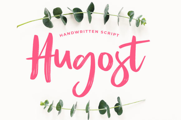 Print on Demand: Hugost Script & Handwritten Font By formatikastd