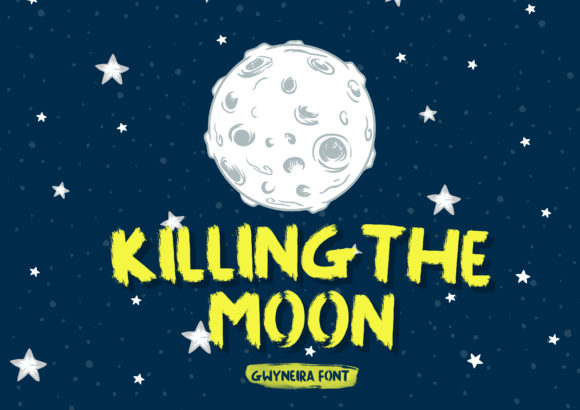 Print on Demand: Killing the Moon Display Font By a.gwyneira
