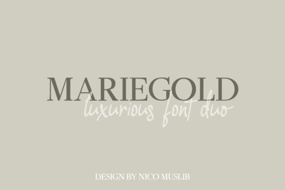 Print on Demand: Mariegold Duo Serif Font By Nico Muslib - Image 1