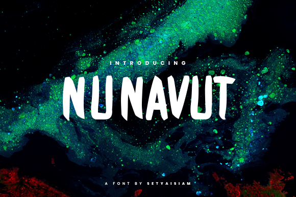 Print on Demand: Nunavut Display Font By setyaisiam