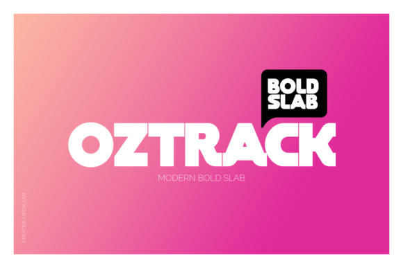 Print on Demand: Oztrack Display Font By creativemedialab - Image 1