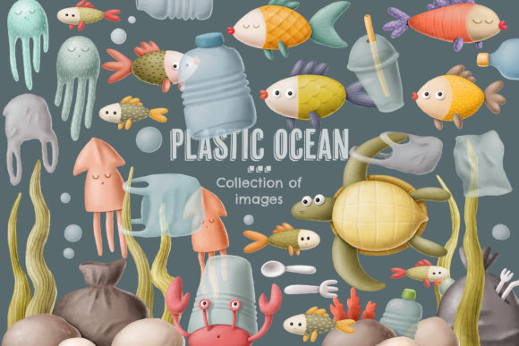 Print on Demand: Plastic Ocean Clipart Graphic Illustrations By Architekt_AT - Image 5