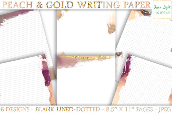 Printable Letter Stationery Note Paper Graphic Objects By GreenLightIdeas