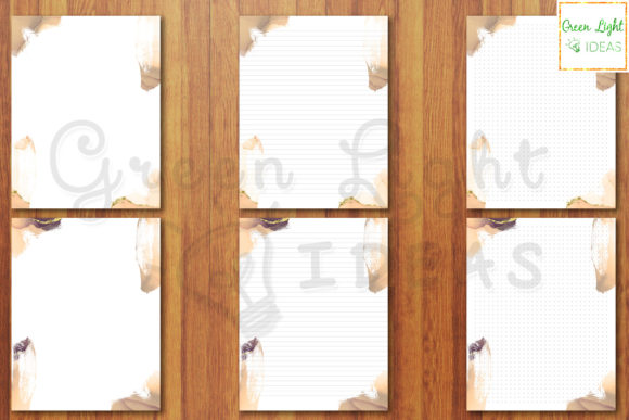 Printable Letter Stationery Note Paper Graphic Objects By GreenLightIdeas - Image 2