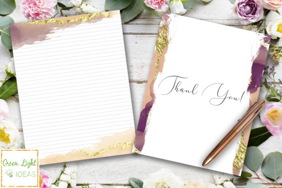 Printable Letter Stationery Note Paper Graphic Objects By GreenLightIdeas - Image 5