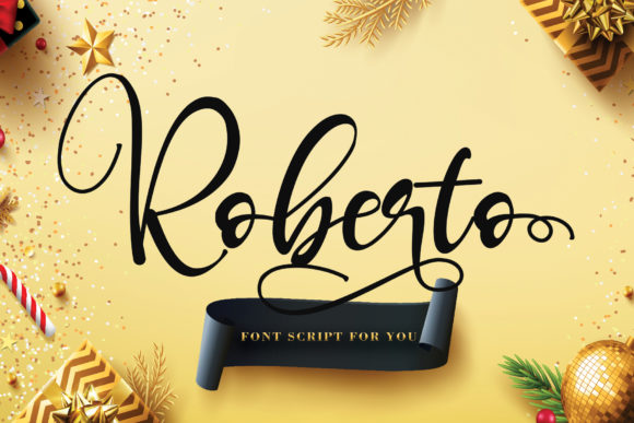 Print on Demand: Roberto Script & Handwritten Font By thomasaradea - Image 1