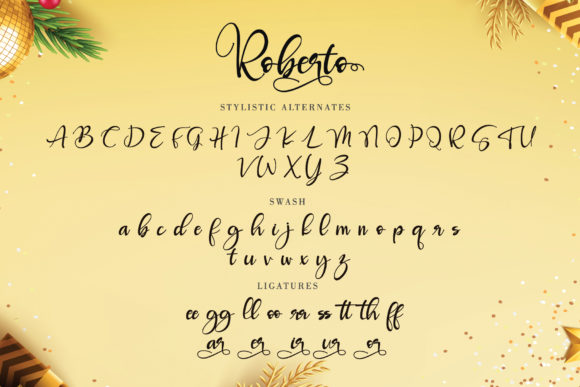 Print on Demand: Roberto Script & Handwritten Font By thomasaradea - Image 10