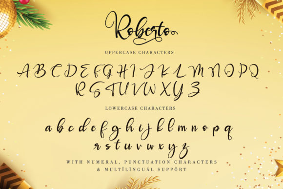 Print on Demand: Roberto Script & Handwritten Font By thomasaradea - Image 9