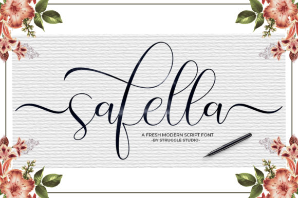 Print on Demand: Safella Script & Handwritten Font By Struggle Studio
