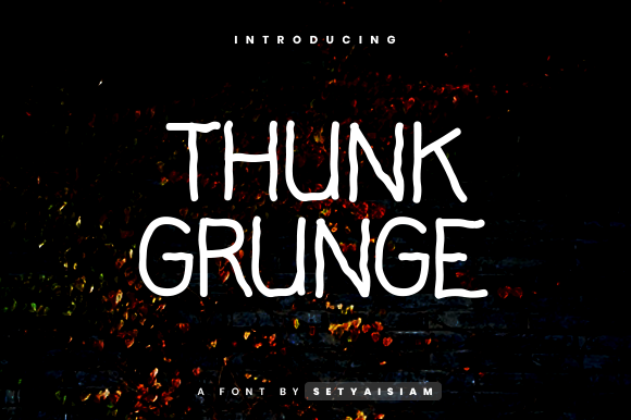 Print on Demand: Thunk Grunge Script & Handwritten Font By setyaisiam