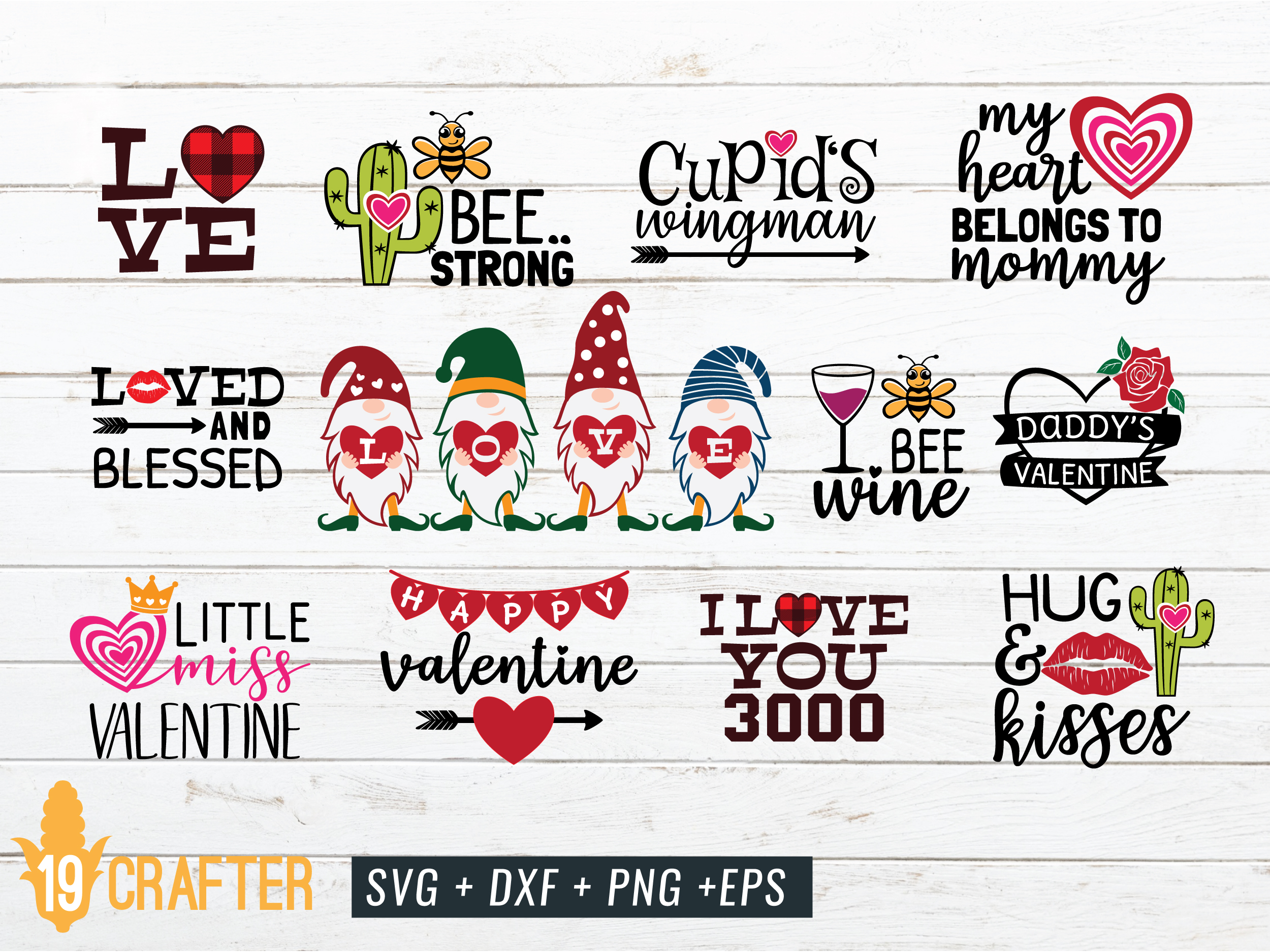 Download Free Valentine S Day Craft Bundle Volume 3 Graphic By Great19 SVG Cut Files