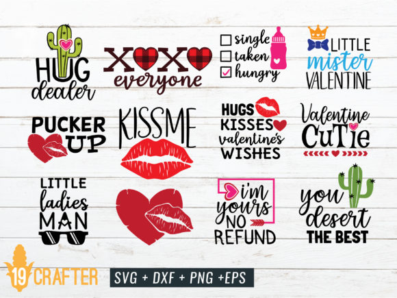 Download Free Valentine S Day Craft Bundle Volume 4 Graphic By Great19 for Cricut Explore, Silhouette and other cutting machines.