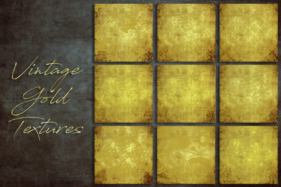 Print on Demand: Vintage Gold Textures Graphic Textures By DAYDESIGN
