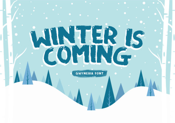 Print on Demand: Winter is Coming Display Font By a.gwyneira