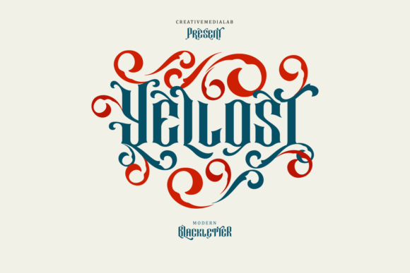 Print on Demand: Yellost Blackletter Fuente Por creativemedialab