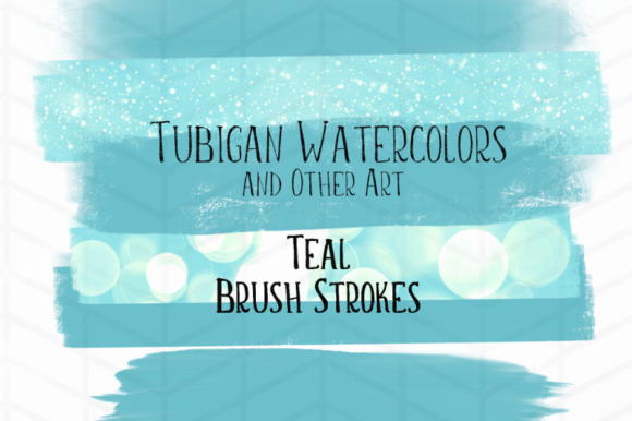 Print on Demand: 12 Brush Strokes 6 Teal and 6 Rose Graphic Illustrations By Tubiganart