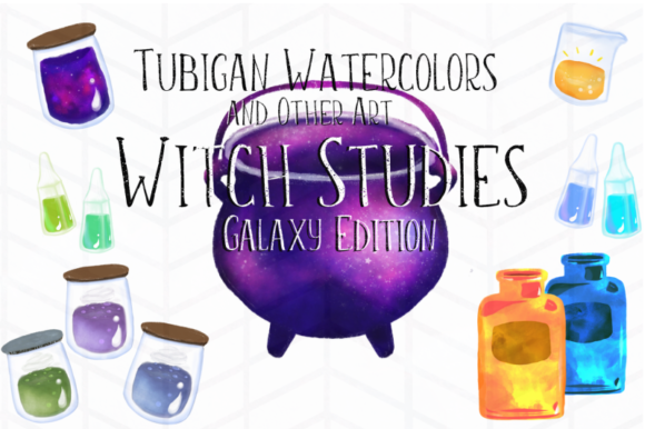 Print on Demand: 12 Witch Studies Galaxy Ed Graphic Illustrations By Tubiganart - Image 1