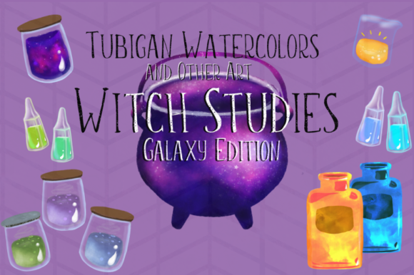 Download Free 12 Witch Studies Galaxy Ed Graphic By Tubiganart Creative Fabrica for Cricut Explore, Silhouette and other cutting machines.