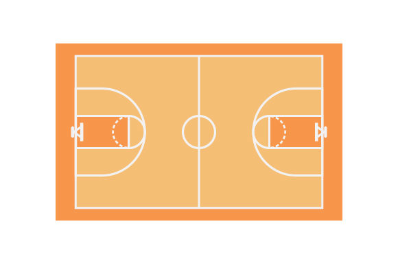 Download Free Basketball Court Svg Cut File By Creative Fabrica Crafts for Cricut Explore, Silhouette and other cutting machines.