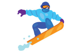 Person Snowboarding Winter Craft Cut File By Creative Fabrica Crafts