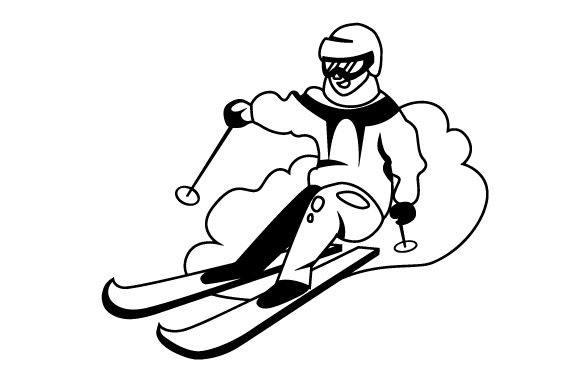 Person Skiing Winter Craft Cut File By Creative Fabrica Crafts - Image 2
