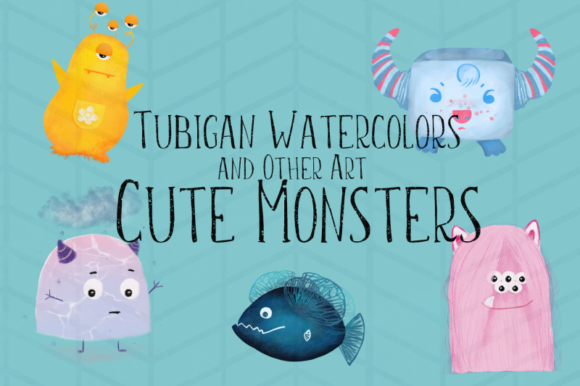 Print on Demand: 5 Cute Monsters Graphic Illustrations By Tubiganart - Image 2