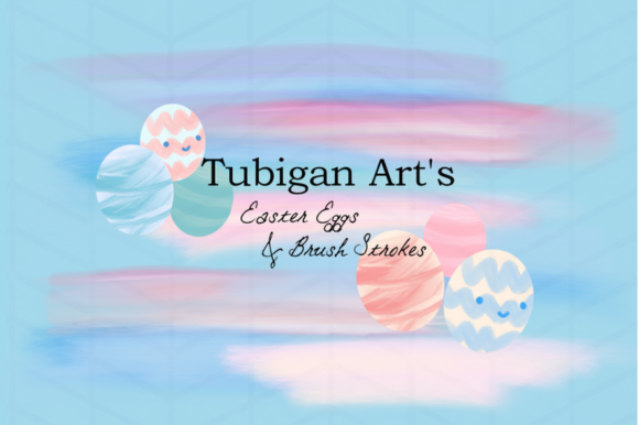 Print on Demand: 6 Easter Eggs and 8 Brush Strokes Graphic Illustrations By Tubiganart - Image 2