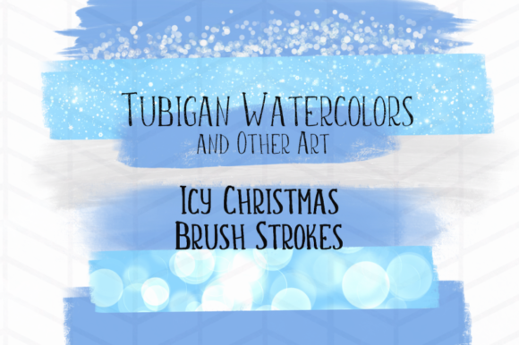 Print on Demand: 8 Brush Strokes for Icy Christmas Theme Graphic Illustrations By Tubiganart