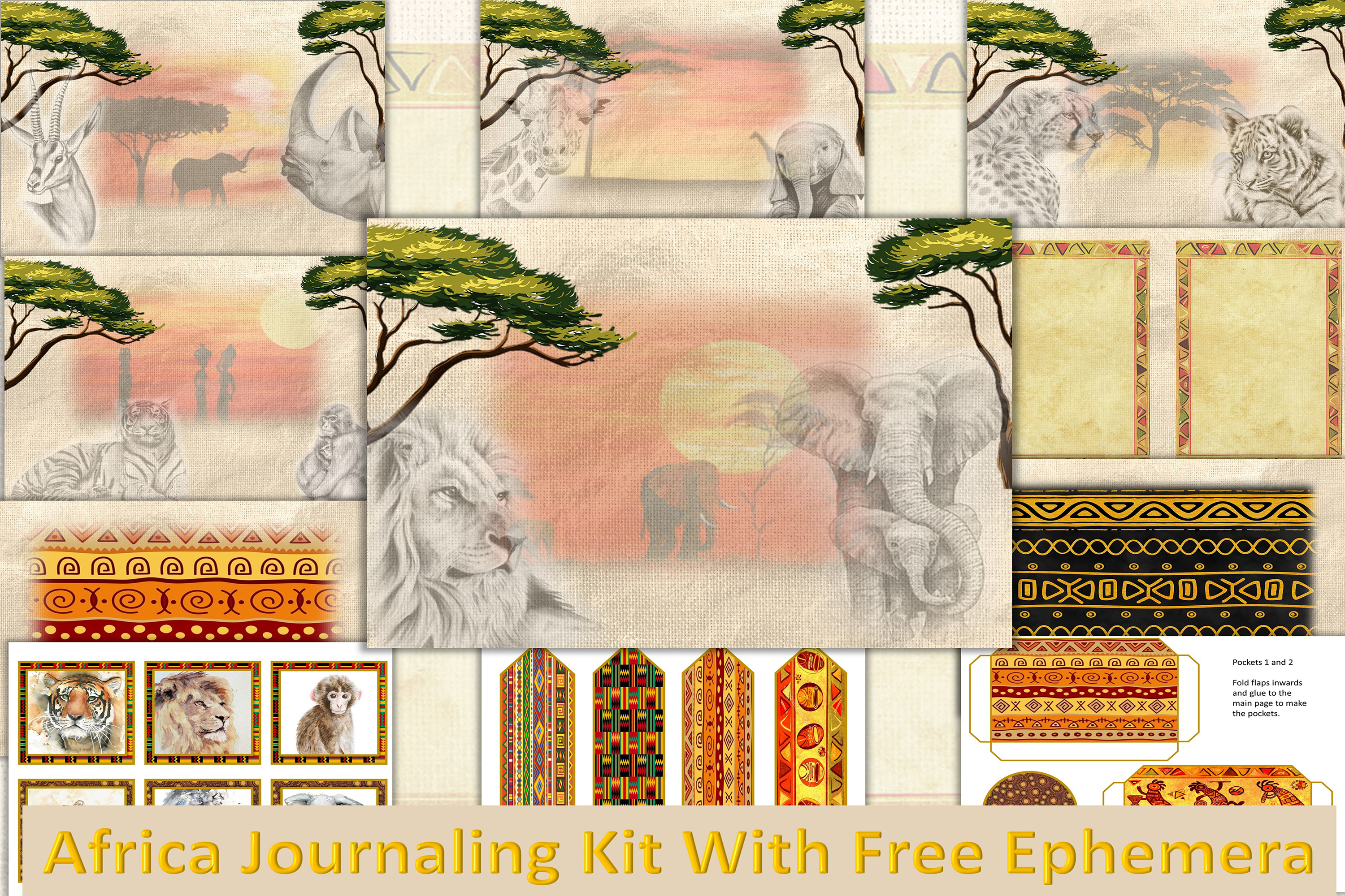 Download Free Africa Backgrounds With Free Clipart Graphic By The Paper for Cricut Explore, Silhouette and other cutting machines.