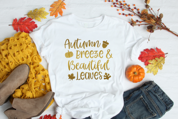 Download Free Autumn Breeze And Beautiful Leaves Graphic By Am Digital Designs for Cricut Explore, Silhouette and other cutting machines.
