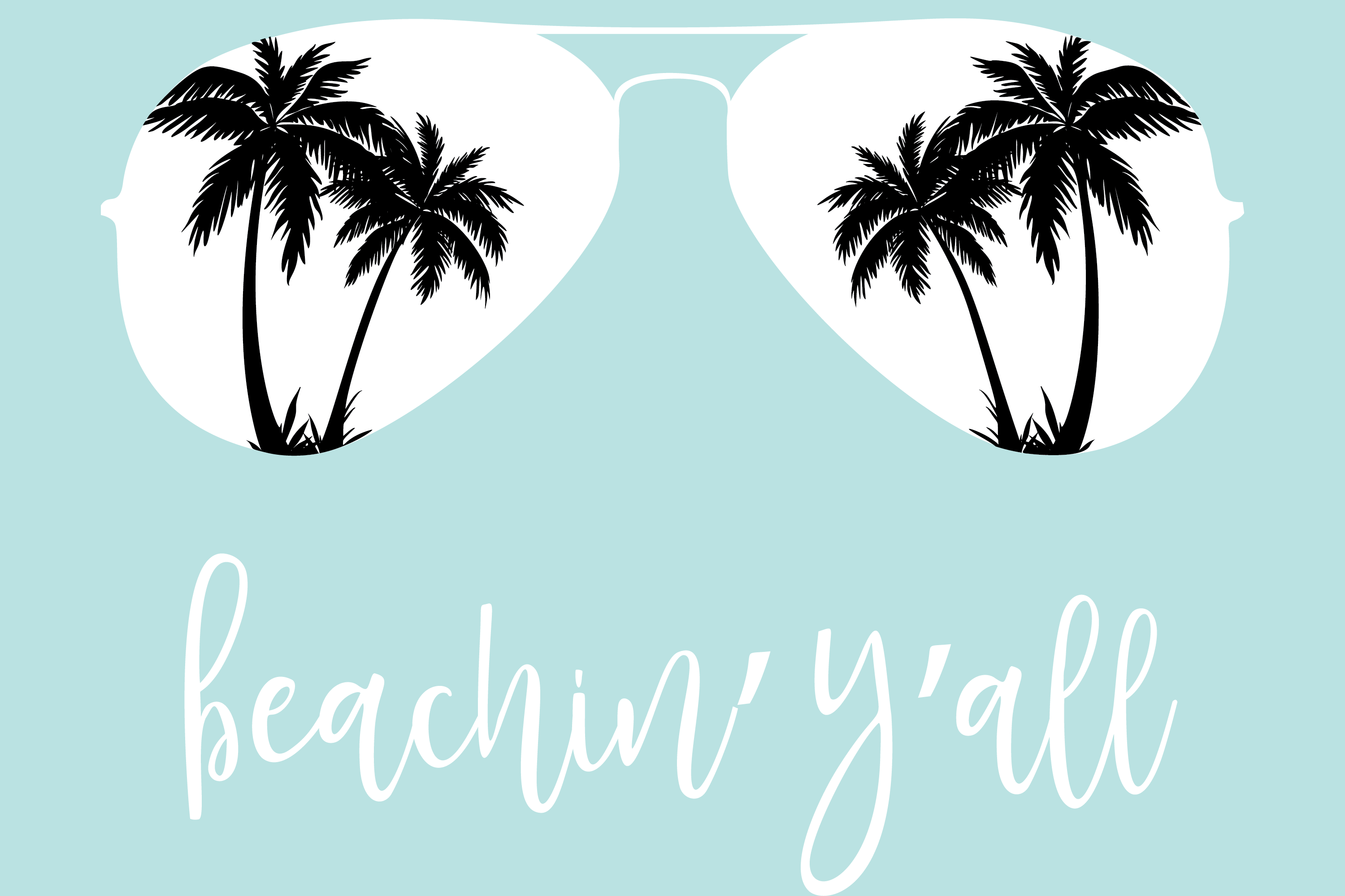 Download Free Beachin Y All Beach Sunglasses Graphic By Am Digital Designs for Cricut Explore, Silhouette and other cutting machines.