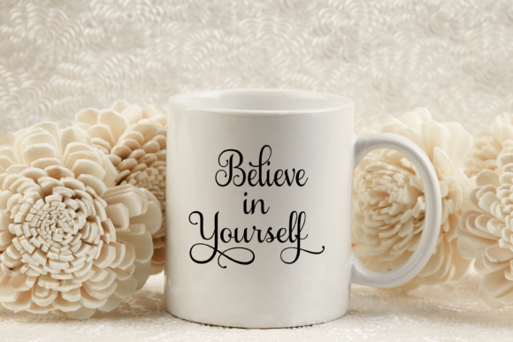 Download Free Believe In Yourself Cutting Files Graphic By Am Digital Designs for Cricut Explore, Silhouette and other cutting machines.