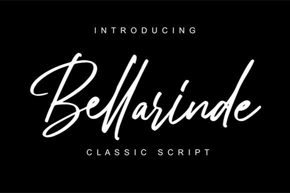 Print on Demand: Bellarinde Script & Handwritten Font By Hanzel Studio
