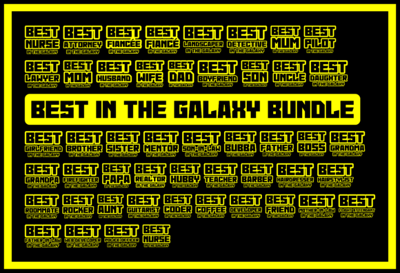 Print on Demand: Best in the Galaxy T-shirt Bundle Graphic Product Mockups By colorsplash