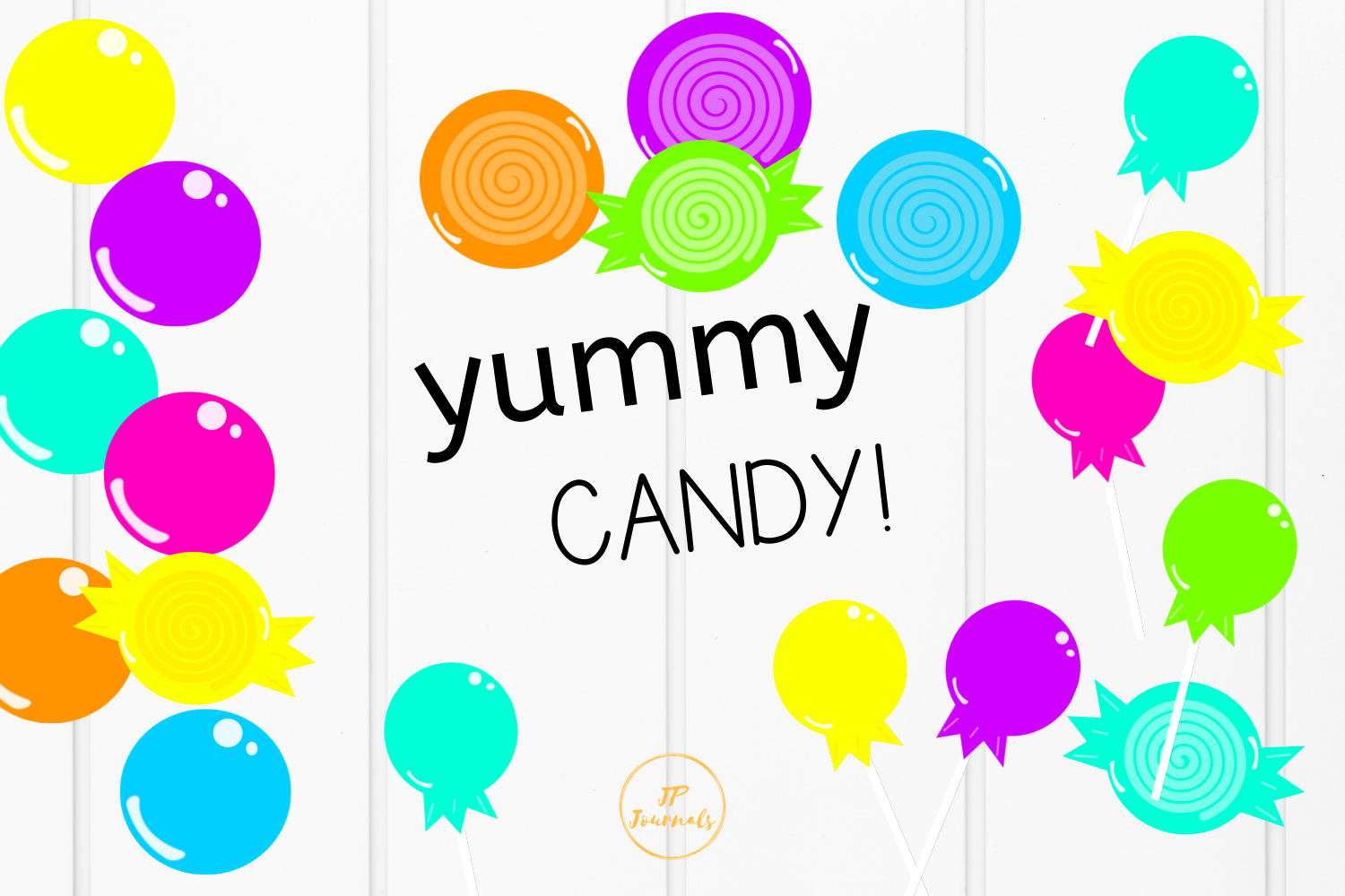 Download Free Bright Candy Clip Art Graphic By Jpjournalsandbooks Creative for Cricut Explore, Silhouette and other cutting machines.