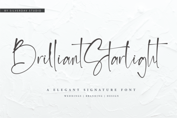 Print on Demand: Brilliant Starlight Script & Handwritten Font By silverdav