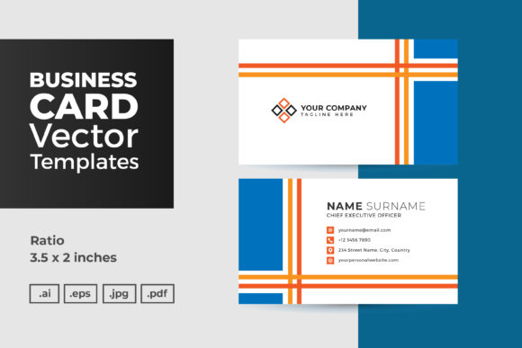 Download Free Business Card Vector Template Graphic By Dendysign Creative for Cricut Explore, Silhouette and other cutting machines.