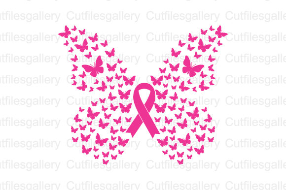 Download Free Butterfly Cancer Graphic By Cutfilesgallery Creative Fabrica for Cricut Explore, Silhouette and other cutting machines.