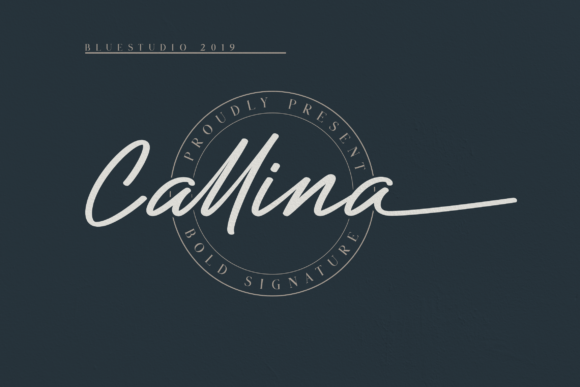 Print on Demand: Callina Script & Handwritten Font By Bluestudio