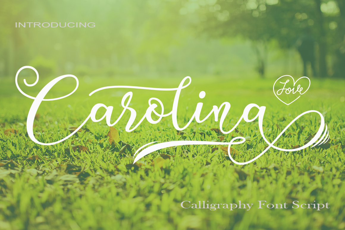 Download Free Carolina Font By Faisal Alfaraby Creative Fabrica for Cricut Explore, Silhouette and other cutting machines.